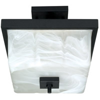 Nuvo Lighting Cubica 2 Light Semi-Flush in Textured Black 60/002