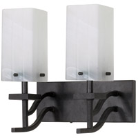 Cubica 2 Light 12 inch Textured Black Vanity & Wall Wall Light