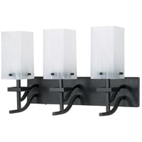 Nuvo Lighting Cubica 3 Light Vanity & Wall in Textured Black 60/006