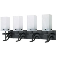 Nuvo Lighting Cubica 4 Light Vanity & Wall in Textured Black 60/007