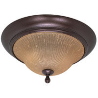 Nuvo 60/011 Moulan 2 Light 16 inch Copper Bronze Flushmount Ceiling Light