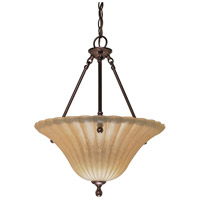 Nuvo Lighting Moulan 3 Light Pendant in Copper Bronze 60/013