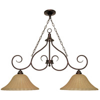 Nuvo Lighting Moulan 2 Light Chandelier in Copper Bronze 60/019