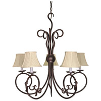 Nuvo 60/040 Tapas 5 Light 29 inch Old Bronze Chandelier Ceiling Light