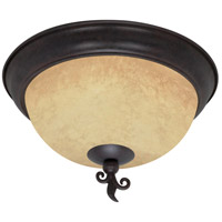 Tapas 3 Light 15 inch Old Bronze Flushmount Ceiling Light