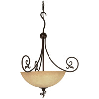 Nuvo 60/050 Tapas 3 Light 24 inch Old Bronze Pendant Ceiling Light