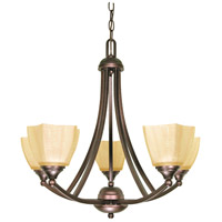 Nuvo 60/055 Normandy 5 Light 25 inch Copper Bronze Chandelier Ceiling Light