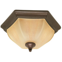 Normandy 2 Light 16 inch Copper Bronze Flushmount Ceiling Light