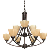 Nuvo Lighting Normandy 9 Light Chandelier in Copper Bronze 60/063