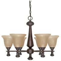 Nuvo 60/100 Mericana 6 Light 25 inch Old Bronze Chandelier Ceiling Light