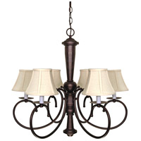Nuvo 60/101 Mericana 6 Light 27 inch Old Bronze Chandelier Ceiling Light