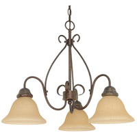 Nuvo 60/1021 Castillo 3 Light 26 inch Sonoma Bronze Chandelier Ceiling Light