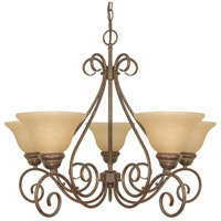 Nuvo 60/1023 Castillo 5 Light 28 inch Sonoma Bronze Chandelier Ceiling Light