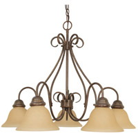 Nuvo 60/1024 Castillo 5 Light 28 inch Sonoma Bronze Chandelier Ceiling Light