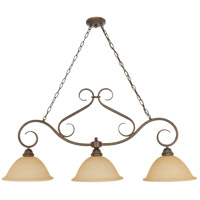 Nuvo 60/1025 Castillo 3 Light 44 inch Sonoma Bronze Island Light Ceiling Light