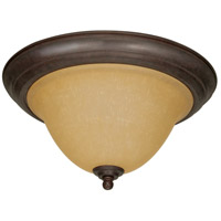 Nuvo 60/1026 Castillo 2 Light 15 inch Sonoma Bronze Flushmount Ceiling Light