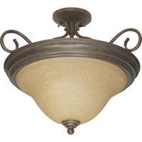 Nuvo 60/1027 Castillo 3 Light 19 inch Sonoma Bronze Semi-Flush Ceiling Light