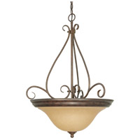 Nuvo 60/1028 Castillo 3 Light 21 inch Sonoma Bronze Pendant Ceiling Light
