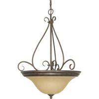 Nuvo 60/1028 Castillo 3 Light 21 inch Sonoma Bronze and Champagne Pendant Ceiling Light