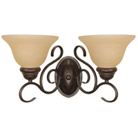 Nuvo 60/1031 Castillo 2 Light 17 inch Sonoma Bronze and Champagne Wall Sconce Wall Light