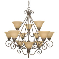 Nuvo Lighting Castillo 12 Light Chandelier in Sonoma Bronze 60/1033 photo thumbnail