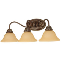 Castillo 3 Light 26 inch Sonoma Bronze Vanity & Wall Wall Light