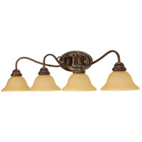 Castillo 4 Light 34 inch Sonoma Bronze Vanity & Wall Wall Light