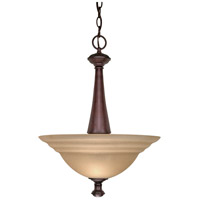 Nuvo 60/104 Mericana 2 Light 16 inch Old Bronze and Amber Pendant Ceiling Light