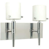 Nuvo Lighting Jet 2 Light Vanity & Wall in Polished Chrome 60/1072