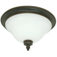 Nuvo Lighting Bistro 2 Light Flushmount in Rustic Bronze 60/1101