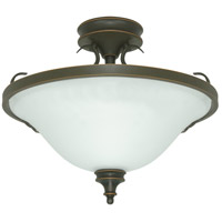 Nuvo Lighting Bistro 3 Light Semi-Flush in Rustic Bronze 60/1102