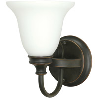 Nuvo Lighting Bistro 1 Light Vanity & Wall in Rustic Bronze 60/1104