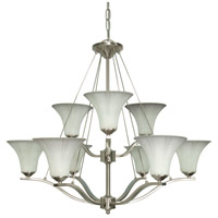 Nuvo Lighting Delano 9 Light Chandelier in Brushed Nickel 60/1115 photo thumbnail