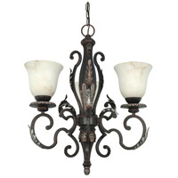 Nuvo Lighting Cipriani 3 Light Chandelier in Garnet Bronze 60/1165 photo thumbnail
