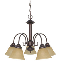 Nuvo 60/1251 Ballerina 5 Light 24 inch Mahogany Bronze Chandelier Ceiling Light