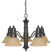 Gotham 5 Light 25 inch Mahogany Bronze Chandelier Ceiling Light