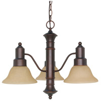 Nuvo Lighting Gotham 3 Light Chandelier in Mahogany Bronze 60/1254