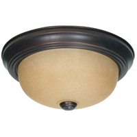 Nuvo 60/1255 Brentwood 2 Light 11 inch Mahogany Bronze and Champagne Flush Mount Ceiling Light
