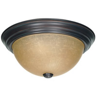 Nuvo 60/1256 Brentwood 2 Light 13 inch Mahogany Bronze and Champagne Flush Mount Ceiling Light