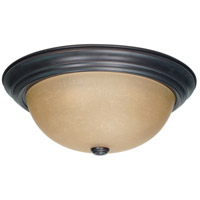 Nuvo 60/1257 Signature 3 Light 15 inch Mahogany Bronze Flushmount Ceiling Light