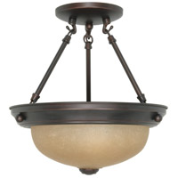 Nuvo Lighting Signature 2 Light Semi-Flush in Mahogany Bronze 60/1258