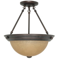 Nuvo 60/1259 Signature 2 Light 13 inch Mahogany Bronze Semi-Flush Ceiling Light