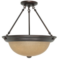 Nuvo Lighting Signature 3 Light Semi-Flush in Mahogany Bronze 60/1261
