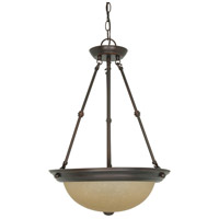 Nuvo 60/1262 Signature 3 Light 15 inch Mahogany Bronze Pendant Ceiling Light photo thumbnail