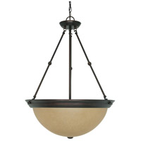 Nuvo 60/1263 Signature 3 Light 20 inch Mahogany Bronze Pendant Ceiling Light photo thumbnail