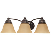 Empire 3 Light 21 inch Mahogany Bronze Vanity & Wall Wall Light
