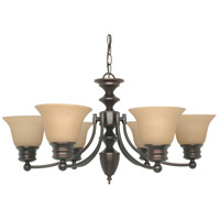 Empire 6 Light 26 inch Mahogany Bronze Chandelier Ceiling Light