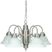Nuvo 60/1290 Signature 5 Light 23 inch Brushed Nickel Chandelier Ceiling Light