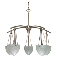 Nuvo 60/130 South Beach 5 Light 25 inch Brushed Nickel Chandelier Ceiling Light