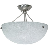 South Beach 3 Light 16 inch Brushed Nickel Semi-Flush Ceiling Light